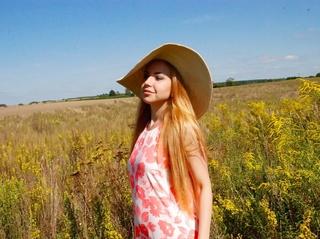 white girl orange hair