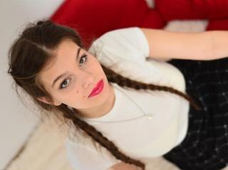 white teen brown hair
