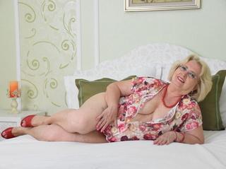 white granny blonde hair