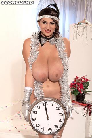 silver gloves bowtie brunette