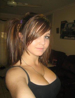 emo brunette shows her