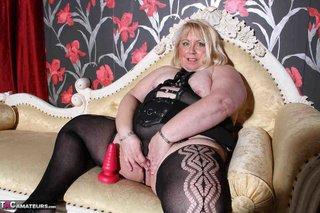 black lingerie dressed plumper