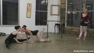 blonde ballet teacher gets