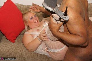blonde white lingerie peignoir