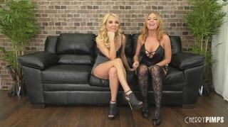 corset stockings blonde fake