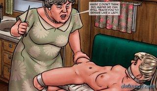 mom prepares sexy lady