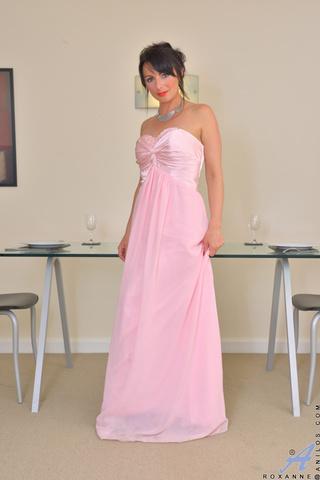 tall raven pink dress