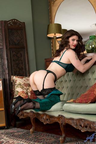 curvy brunette torquoise lingerie