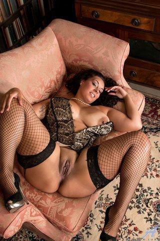 fishnet stocking british heels