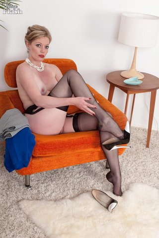 stockings ass blonde