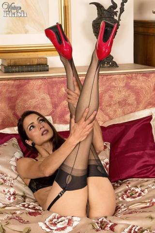 dress stockings ass