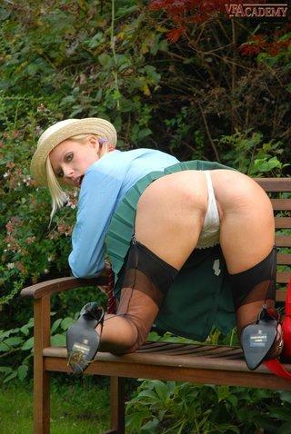 blonde, park, public, vintage