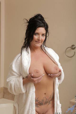 busty mom shower bathtub