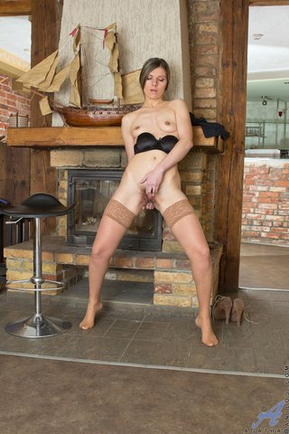chick, mature, pussy, stockings