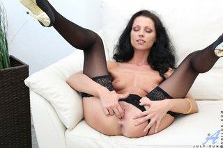 stripping mature milf mom