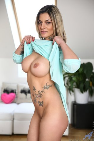 blonde, mature, stripping, tattooed