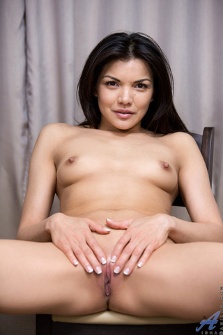 asian babe removes casual