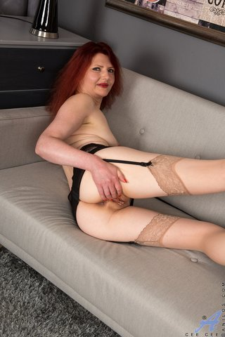 milf redhead opens wide