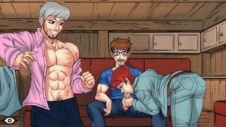 cartoon gay blowjob facial