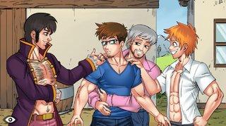 handsome anime gay boys