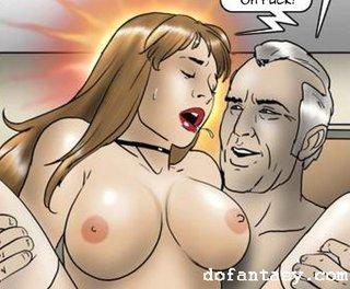 bdsm art, big tits, redhead, riding dick