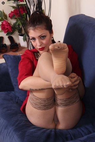 beautiful, foot, perfect, stockings
