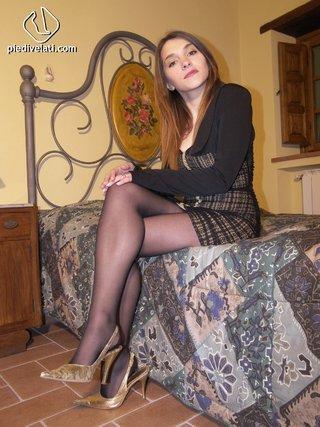 babe, foot, lady, pantyhose