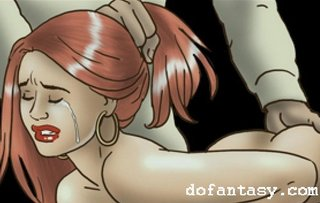 bdsm art, cage, redhead, tears