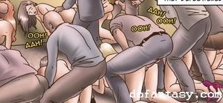 slave orgy bondage art