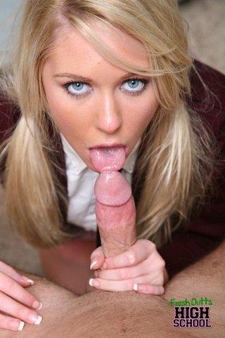 pinkish skinned blonde slut