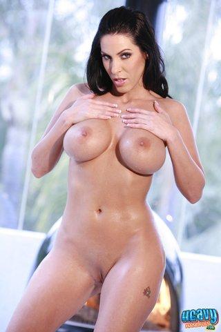 brunette stunner takes sexy