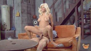 blonde large tits rides