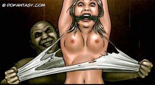 monster fucks girl bondage
