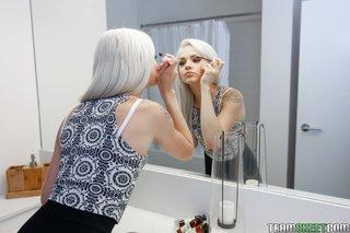 small tits skinny blonde