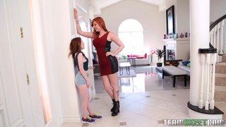 lesbian pale redhead teen