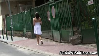 clad flowing white dress