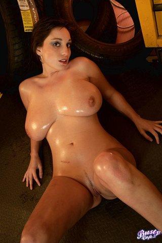 slutty oiled brunette skinny