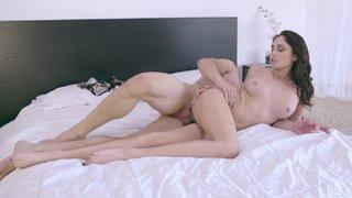 stunning boobs bra tease