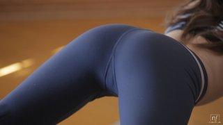 slender sexy brunette babe