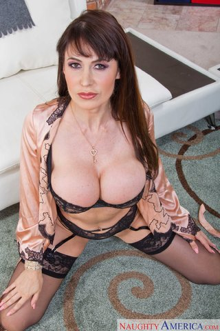 brunette hot mom massage