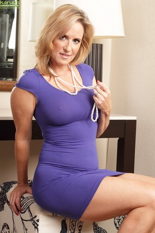 blonde mature woman