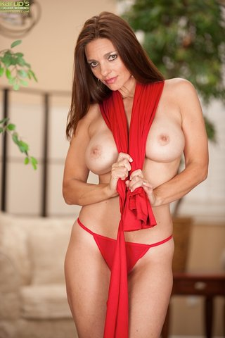 brunette mature striptease