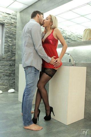 serbian stockings high heels