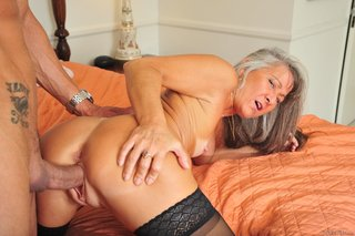 horny mature brunette