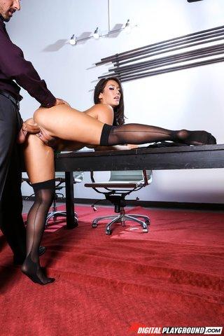 digital stockings brunette