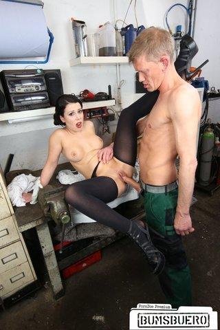 austrian brunette blowjob