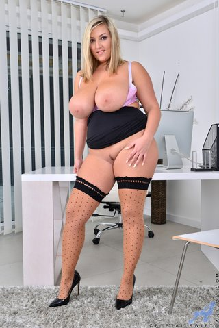 chubby stockings high heels