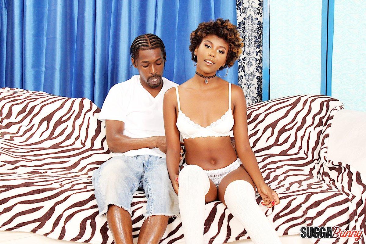 Ebony Teen White Step Dad