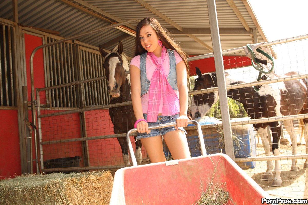 Animal Farm Fuck Porn blue eyed young farm girl gets fuckedstable boy after