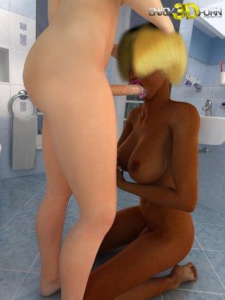 interracial cartoon porn